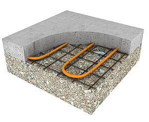 Нагревательный кабель поддерживает плюсовые температуры на поверхности тротуарной плитки даже в сильныые холода